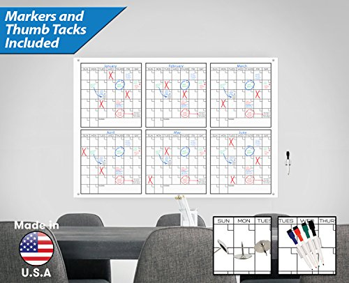 Large Dry Erase Wall Calendar - 33