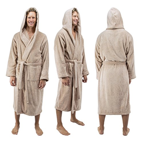 dc9f32d0ae well-wreapped Comfy Robes Men s Deluxe 20 oz. Turkish Cotton Hooded Bathrobe