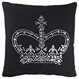 Rizzy Home Andrew Charles Collection Studd & Hand Beaded Work Decorative Pillow, 20'' x 20'', Black