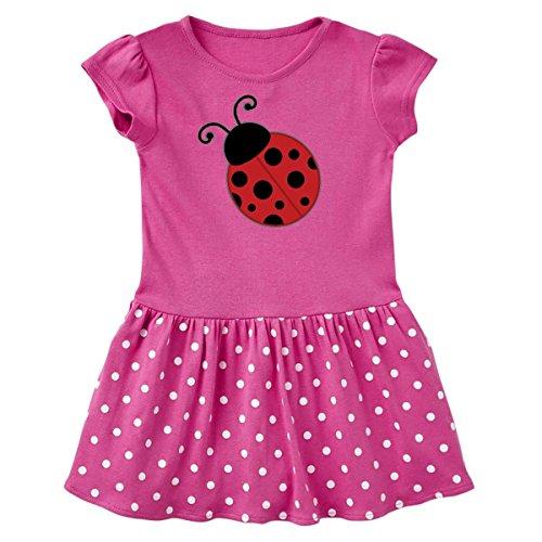 inktastic Ladybug Toddler Dress 5/6 Raspberry with Polka Dots 1d76e (Ladybug Raspberry)