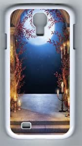 Samsung Galaxy S4 Case and Cover- Castle Entrace PC Hard Case for Samsung Galaxy S4 / SIV/ I9500 White