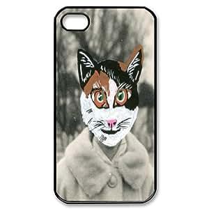 Cross Eyed Cat Design Cheap Custom Hard Case Cover for iPhone 4,4S, Cross Eyed Cat iPhone 4,4S Case