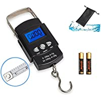Fishing Scale, Hanging Scale, LCD Screen 110lb/50kg...