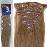 Straight Remy Human Hair Extensions 24 Colors for Your Choose in 15inch ,18inch ,20inch ,22inch ,Beauty Salon Women's Accessories (18inch 70g, #12-light brown) by lilu by lilu