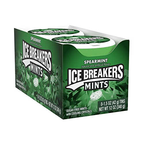 (ICE BREAKERS Sugar Free Mints, Spearmint, 1.5 Ounce (Pack of)
