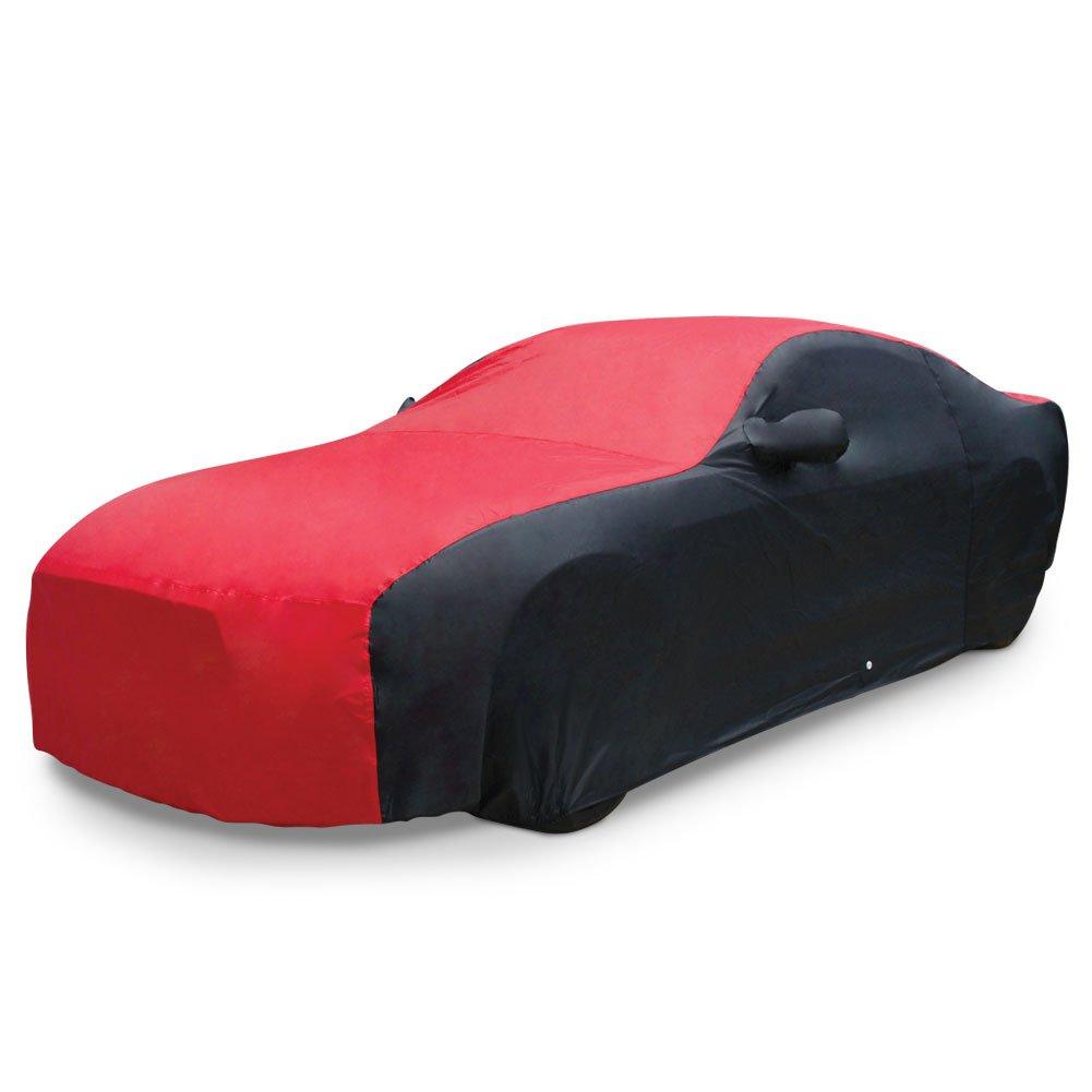 Red//Black Indoor//Outdoor Protection West Coast Corvette // Camaro 4350439334 2015-2019 Mustang Ultraguard Plus Car Cover