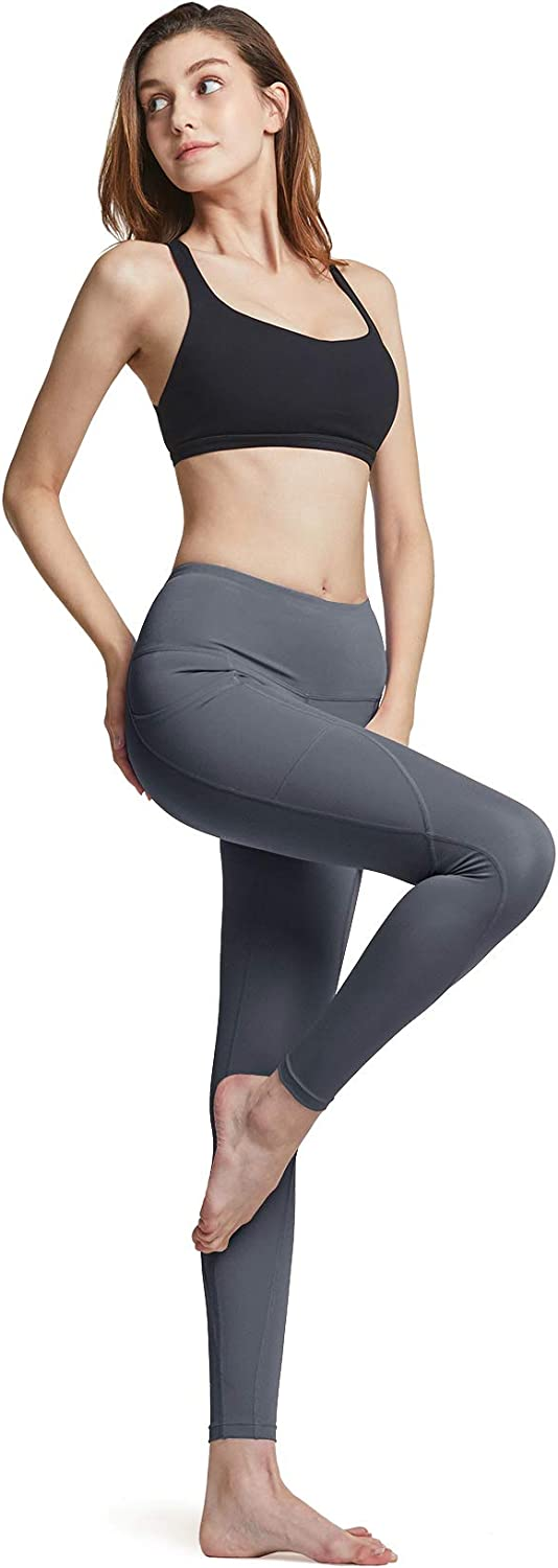 4 Way Stretch Non See-Through Workout Running Tights Small Tummy Control Yoga Leggings A1 Pocket 3pack ATHLIO High Waist Yoga Pants with Pockets ylp38 - Black//Charcoal//Red