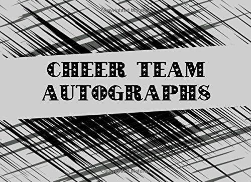 Cheer Team Autographs: Blank Unlined Memory Book por Sportslo Notebooks