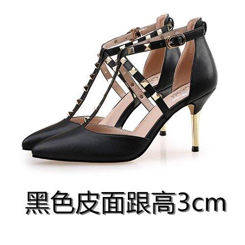 Tacón Sandalias Sandalias Shoessummer Alto De De Black Acentuada Grande Patio De Sandalias VIVIOO Patio Pequeño Mujer Alto De 3cm Tacón Tacón Alto Hembra zqdAxwxt