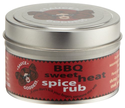Sauce Goddess BBQ Sweet Heat Spice Rub, 1.75-Ounce Containers (Pack of 3)