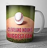 Cleveland Indians Biggest Fan Baseball Mug - Birthday Gift / Stocking Filler (7 - 10 BUSINESS DAYS DELIVERY FROM UK)
