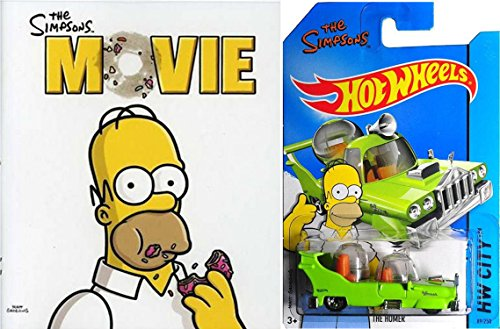 (The Simpsons Movie Blu-ray with Hot Wheels Retro The Home 1:64 DieCast Car)