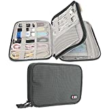 #8: Electronics Travel Organizer Bag BUBM Accessories Cable Cord Gadgets Gear Storage Case for IPad mini-Olive green