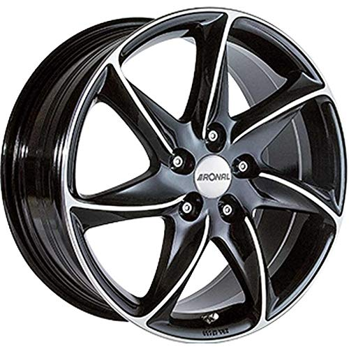 RONAL-Jante Alu 8, 0 X 17 R51/112 ET45 CH76 5 Couleur : Black Polished /