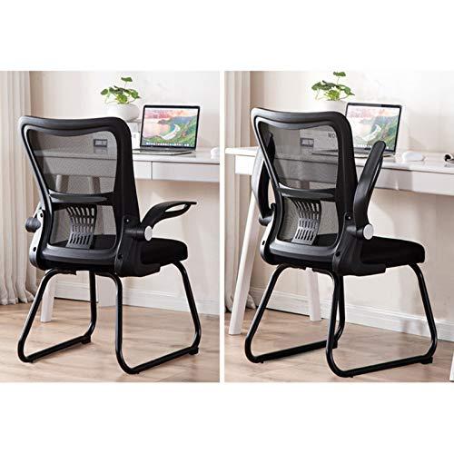Svart/vita ergonomiska kontorsstolar, mötesrum nät datorstol pojkar flickor spelstolar Storlek: 46 x 48 x 90-98 cm (Färg: Vit, storlek: 46 x 48 x 90-98 cm)