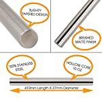 Chef Smarts - Premium Professional French Rolling Pin | Best for Baking, Pie Crust, Pastry Dough, Pizza, Fondant and more | Brushed Stainless Steel Metal | Tapered Design | Kitchen Tools 11 ✅ SUPERIOR FRENCH ROLLING PIN USED BY PROFESIONNAL CHEF - Imagine creating a perfectly rolled dough with the smooth 100% stainless steel non-porous surface. Roll pizza, cookies, pie crust, fondant, biscuits, fresh pasta, tortillas, croissant and so much more. ✅ THIS FRENCH ROLLING PIN IS PERFECT FOR BAKING - This is the best rolling pin you can buy. It is better than silicone, marble, or wooden rolling pins because of the tapered design. This allows you to disperse the weight evenly and provides more control over the dough. ✅ SAFE AND HIGH QUALITY STAINLESS STEEL - Designed with 304 Stainless steel with a brush finish, strong and very comfortable. The steel surfaces will not be moldy like wooden ones and cracked like marble ones. Stainless steel will NOT crack, split, or splinter.