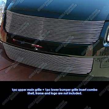 APS Compatible with 06-09 Ford Fusion Black Black Stainless Steel Billet Grille Combo Insert F87751J