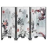Pequeña pantalla plegable de madera Arte Byobu Altura de 245 mm / 9,65 pulgadas FGPF-01 (Plant)