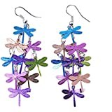 Afco Women Dragonfly Hollow Dangle Hook Earrings,Fashion Christmas Jewelry Gift 10#