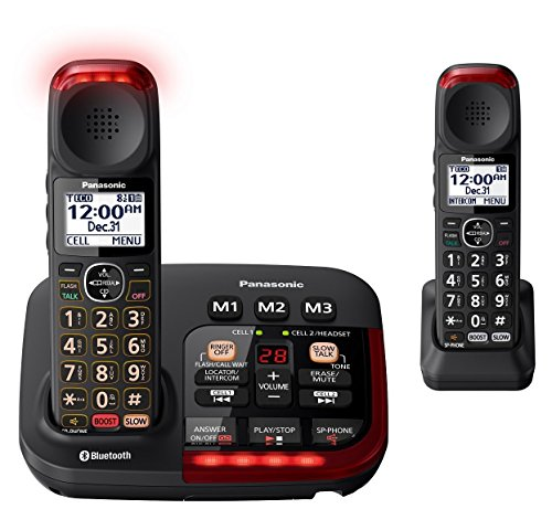 Panasonic KX-TGM430B Bluetooth Amplified Cordless Phone (2 Handsets) ()