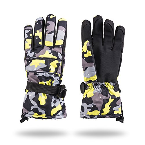 - Winter Glove Thinsulate Insulated Lined Windproof Ski Snowboarding Gloves (yellow)