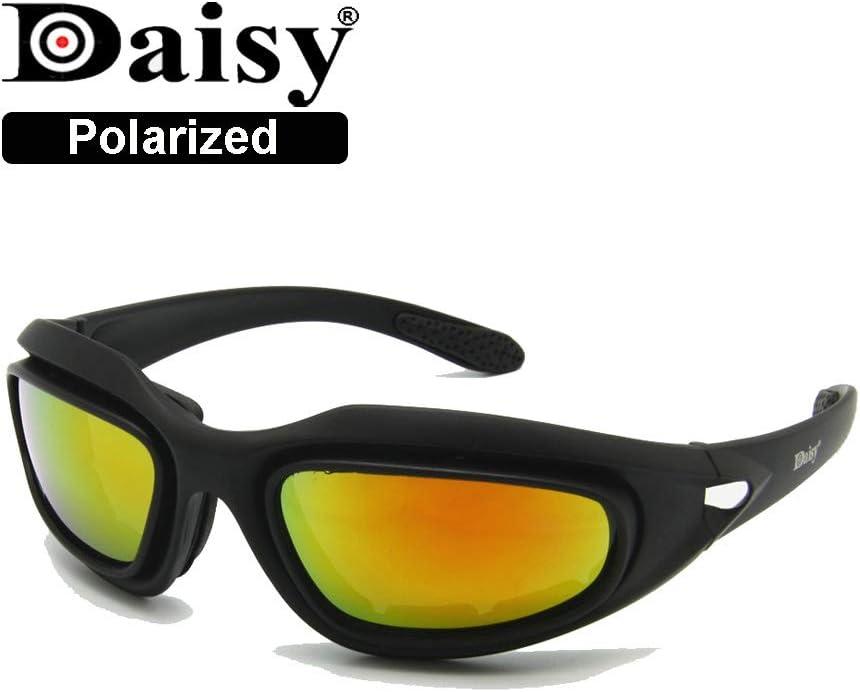EnzoDate Daisy One C5 Dirt Militar ATV Gafas de Transición Polarizadas 4 Lens Kit Deportes al Aire Libre Motociclismo Gafas Juego de Guerra Gafas de Sol del ejército