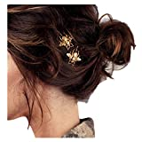 Starpromise Exquisite Golden Bee Hairpin Clip Hair Wig Personal Care Accessories Small Bee Hair Clip Edge Clip (Gold)