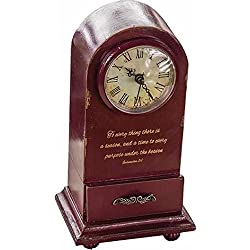 Manual Woodworkers & Weavers 93327 Clock To Everything A Purpose Tabletop Vintage Burgundy - 5.25 x 3.75 x 9.25