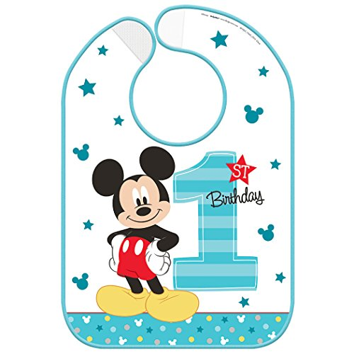 Amscan Disney Mickey Mouse 1st Birthday Bib -