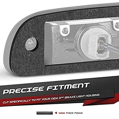 VIPMOTOZ Third Brake Light Gasket Seal Replacement Foam For 2005-2020 Nissan Frontier & 2004-2015 Nissan Titan Pickup Truck - Upgrade 4mm Thickness, Double Side Ultra Strong Adhesive: Automotive