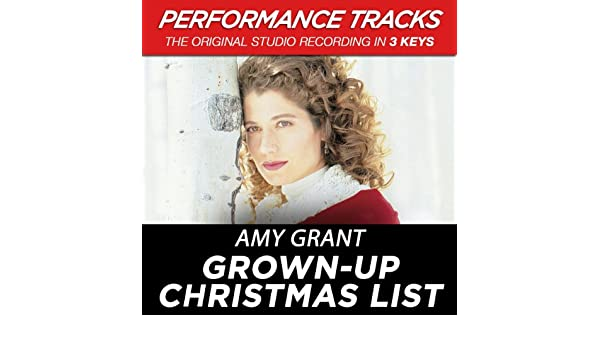 grown up christmas list performance track in key of b medium key instrumental by amy grant on amazon music amazoncom - Amy Grant Grown Up Christmas List