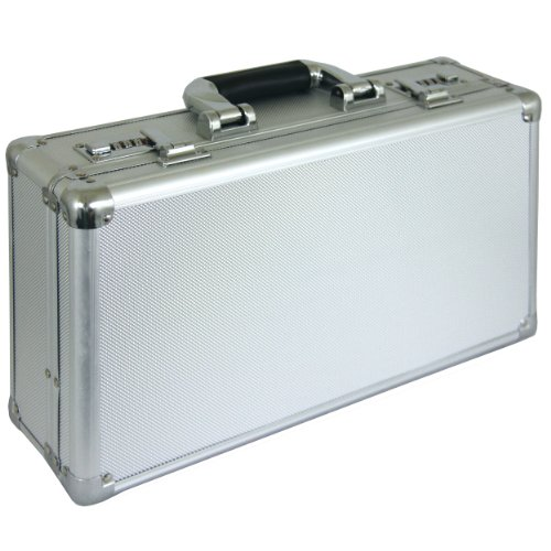 "16"" Aluminum Locking Handgun Case Combination Lock Gun Storage Box Carry Airsoft by Planet International"