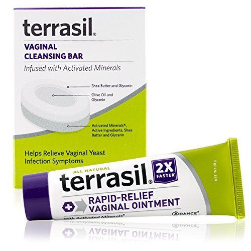 Rapid Relief Feminine Care Vaginal Ointment & Soap All-Natural 100% Guaranteed Doctor Recommended for yeast infections vaginal itch odor irritation soreness burning restores pH balance by terrasil®