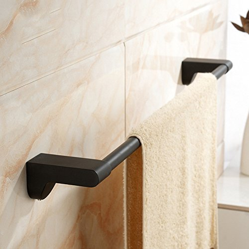 Nero lacca in gomma europea lacca Nero a polo singolo asta asciugamano asciugamano da bagno pendente hardware fd21d2