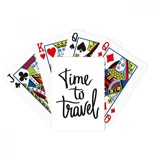 Time to Travel Quote Poker Playing Card Tabletop Board Game Gift by beatChong