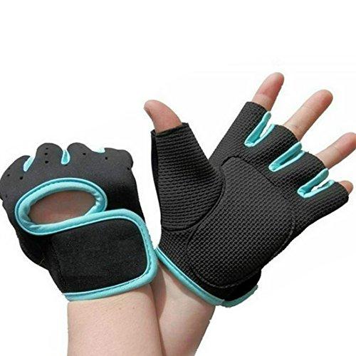 Half Finger Anti-skid Ultre-breathable Outdoor Gloves Blue S