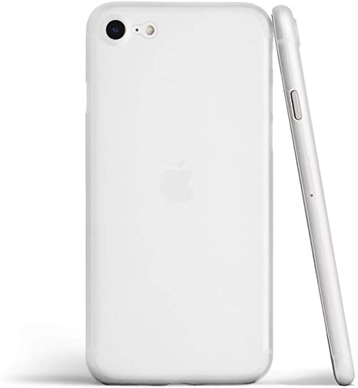 totallee Thin iPhone SE Case, Thinnest Cover Ultra Slim Minimal - for Apple iPhone SE (2020) (Frosted Clear)