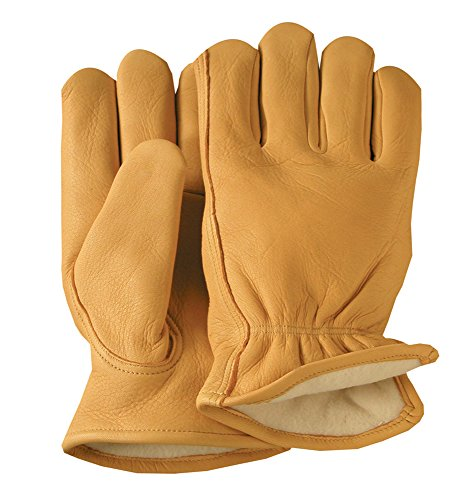 Illinois Glove Company 50XLB Premium Grain Deerskin 3M Thinsulate Lined Gloves, XL, Gold