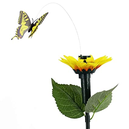 Solar Dancing Flying Fluttering Butterflies Colorful Vibration Hummingbird Lamps