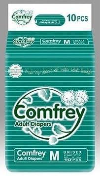 COMFREY ADULT DIAPER MEDIUM SIZE   10 Pcs. PACK  ,