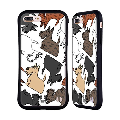Head Case Designs Scottish Terrier Dog Breed Patterns 6 Hybrid Case Compatible for iPhone 7 Plus/iPhone 8 - Scottish Terrier Iphone