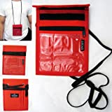 Travel Neck Pouch Holder Passport Id Wallet New Red Security Bag Pocket Cards !!, Bags Central