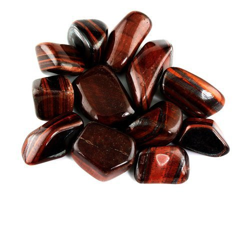Crystal Allies Materials: 1/2lb Bulk Tumbled Red Tigers Eye Stones from South Africa - Large 1