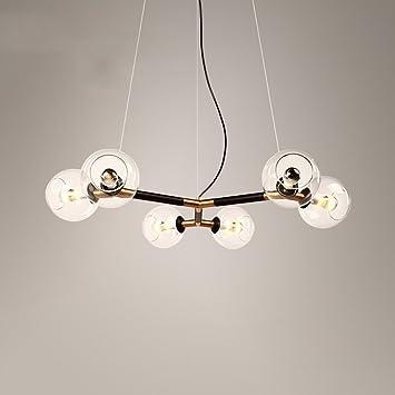 Homee Nordic Kreative Led Glaskugel Eisen Beleuchtung Esstisch