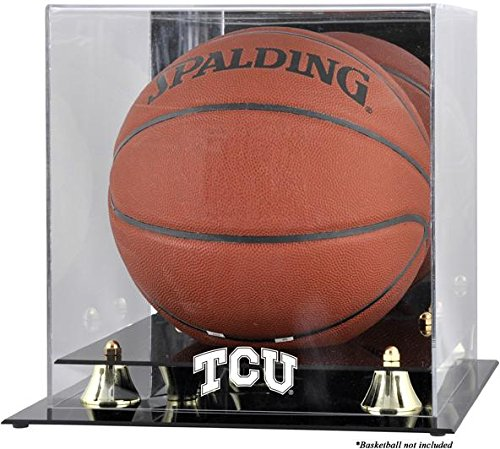 - NCAA - TCU Horned Frogs Golden Classic Logo Basketball Display Case with Mirror Back