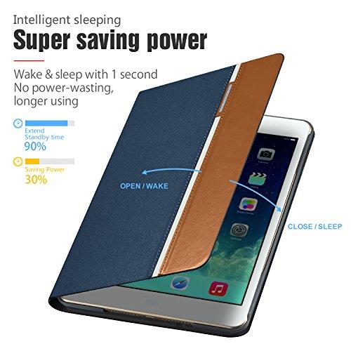 AUAUA iPad Mini 4 Case, iPad Mini 4 PU Leather Case with Smart Cover Auto Sleep/Wake +Screen Protector For Apple iPad Mini 4, 7.9 inch Apple Tablet (Mini 4, Brown) Photo #3