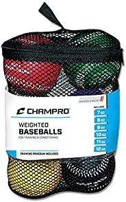 CHAMPRO Weighted Training Baseballs, Set of 6