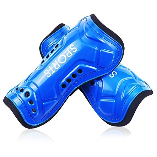AUVSTAR Youth Soccer Shin Guards, 1 Pair Lightweight and Breathable Child...