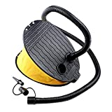 Foot Air Pump for Inflatable, 3 Litres Outdoor Manual Air Step Pump Inflator for Camping Swimming Pool Swim Ring Air Mattress Balloon Airbeds, Inflatable Boat Sofa Inflatable Accessories Toys(Yellow)