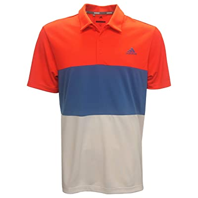 .com : adidas Golf Men's Advantage Color Block Polo Shirt, 2X-Large Red/Blue/White : Sports & Outdoors